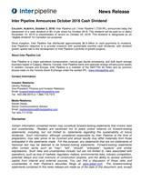 October 2018 Dividend (CNW Group/Inter Pipeline Ltd.)