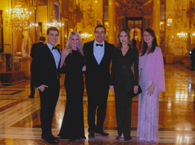 Cav. Sinan Kanatsiz with family (Jeff Garreans, Stacey Garreans, Sinan Kanatsiz, Kai Kanatsiz, Jamie McIntosh), Gala Charity Dinner – Palazzo Colonna, The Gardens and Galleria del Cardinale - Palazzo Colonna