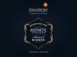 "Congratulations, Environ(R) Skin Care and DermaConcepts on Your 2018 ""Top Medical Skin Care"" Aesthetic Everything(R) Aesthetic and Cosmetic Medicine Award!"