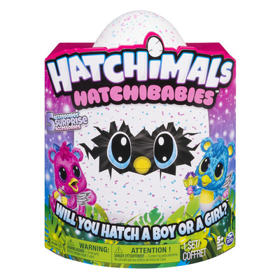 HatchiBabies, will you hatch a boy or a girl (CNW Group/Spin Master)