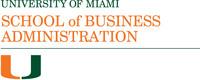 University of Miami School of Business Administration Logo. (PRNewsFoto/University of Miami School of Business Administration)