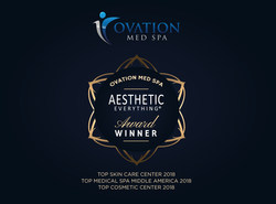 """Ovation Med Spa® of Houston Wins Three 2018 Aesthetic Everything® Awards, Is Voted """"Top Medical Spa Middle America"""" for Second Year in a Row!"""