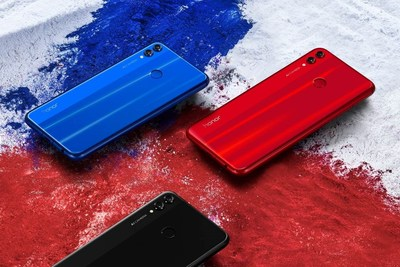 Três cores do Honor 8X (PRNewsfoto/Honor)