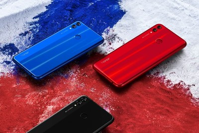Los tres colores del Honor 8X (PRNewsfoto/Honor)