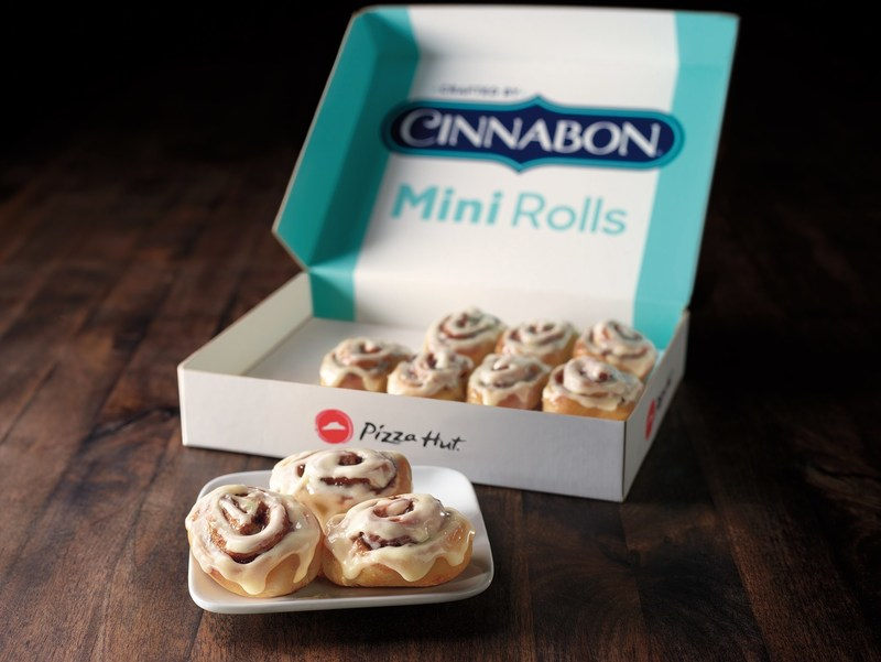 Pizza Hut delivers one-of-a-kind dessert from Cinnabon starting Oct. 8