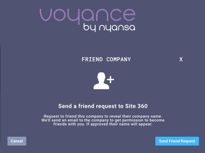 Friend request from Nyansa's Voyance analytics platform