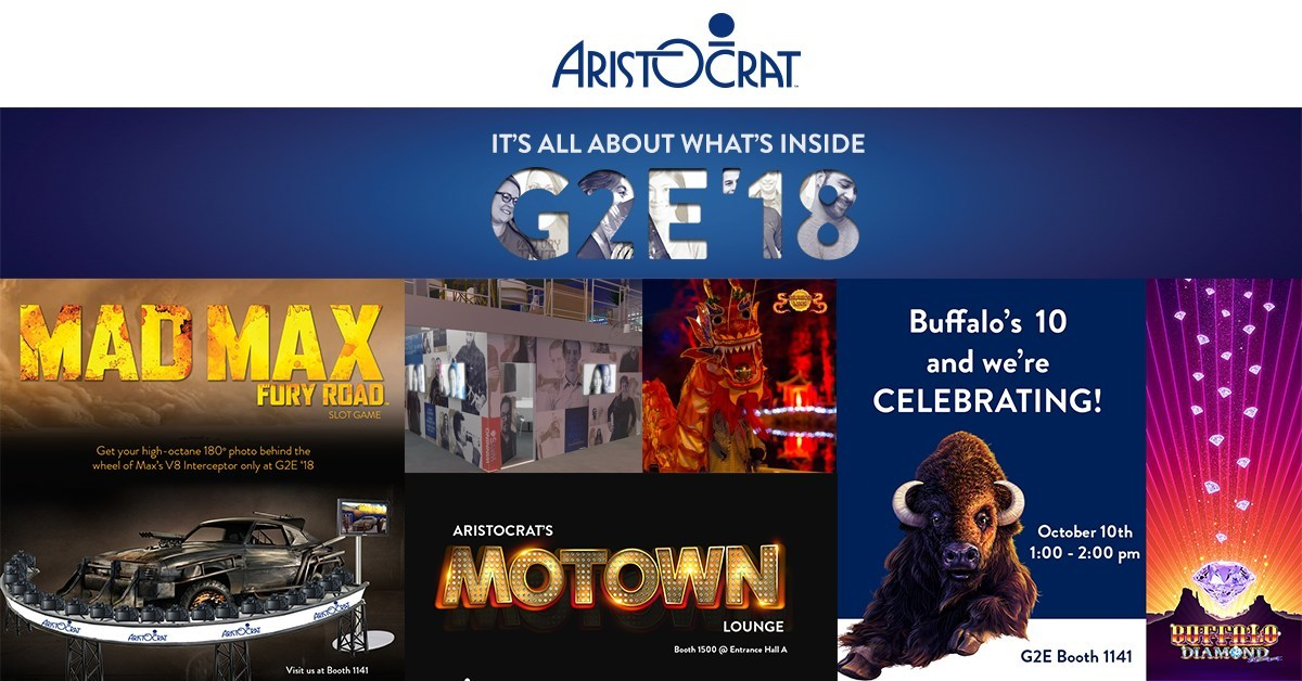 Aristocrat is bringing the ultimate live show experience to the Global Gaming Expo (G2E), October 9-11 in Las Vegas. Aristocrat will be in booth #1141.