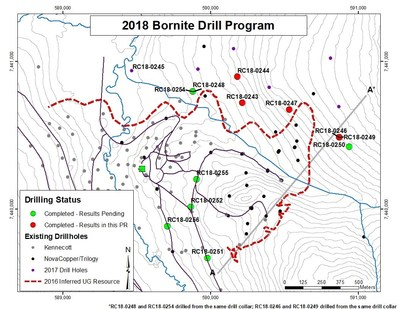 Figure 1- Map Showing Location of 2018 Drilling Program (CNW Group/Trilogy Metals Inc.)