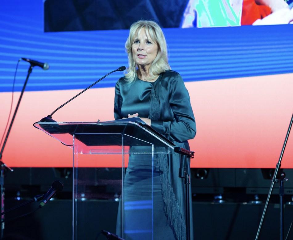 Dr. Jill Biden delivering keynote