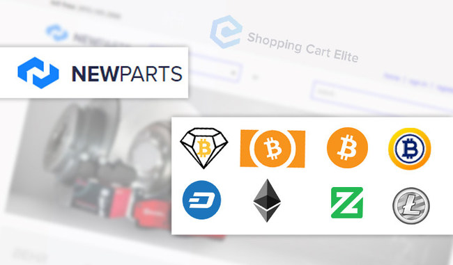 NewParts' online automotive parts store will now be accepting payments in seven different cryptocurrencies, powered by Shopping Cart Elite. Supported cryptocurrencies include Bitcoin Diamond (BCD), Bitcoin Cash (BCH), Bitcoin (BCD), Bitcoin Gold (BTG), Dash, Ethereum (ETH), Zcoin (XZC) and Litecoin (LTC).