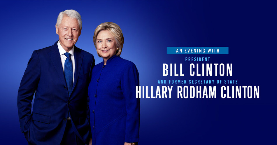Live Nation Announces A Series Of Conversations With President Bill Clinton And Former Secretary Of State Hillary Rodham Clinton