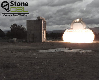 A car bomb explosion was detonated just 30 feet from a PAXCON-coated cinderblock wall during recent blast testing with Stone-OBL Extreme Load Testing in Bend, Ore.