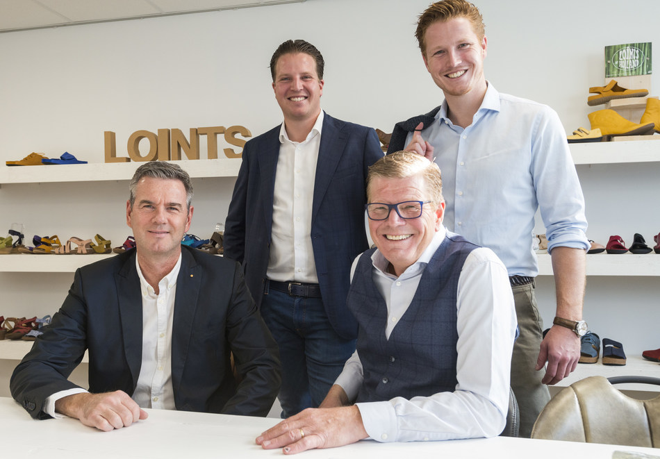 'The newly formed Loint's of Holland management team. Vincent Kriek, Johan Klijsen, Erik Klijsen and Ronald Klijsen, from left to right'. Attached photograph is free of use without any costs. Photography: Pulles & Pulles - Jeroen Pulles. (PRNewsfoto/Loint's of Holland)