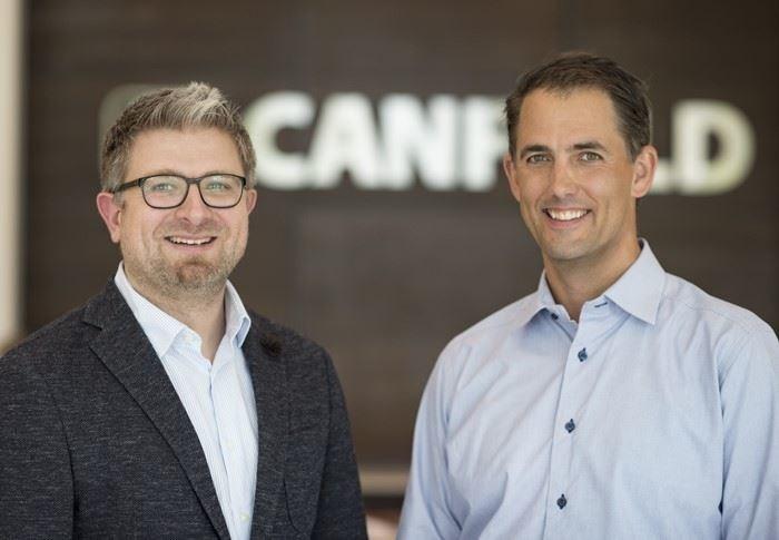 Peter Klar (left), Canfield Scientific GmbH CSO and Doug Canfield (right) CEO of Canfield Scientific, Inc.