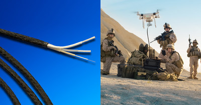 Gore launches new rugged, low-weight Tethered Drone Cables for commercial & military applications at AUSA 2018. Photo: W. L. Gore & Associates
