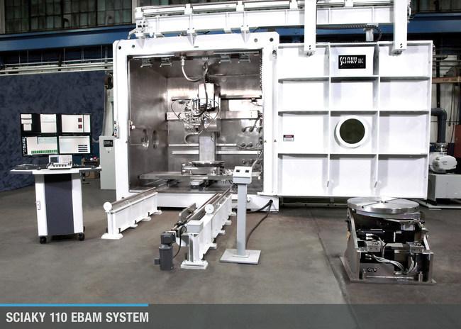 A Sciaky EBAM 110 metal 3D printing system.