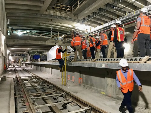 DUS Participants journeyed 150 feet below Grand Central Station in the MTA's East Side Access Tunnel project (construction site) to experience the subterranean aspects of a megacity.