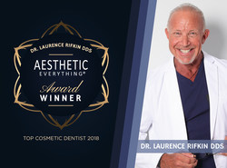 """Laurence Rifkin, DDS was all smiles when notified that he had been honored with the top votes for """"Top Cosmetic Dentist"""" in the 2018 Aesthetic Everything® Awards."""