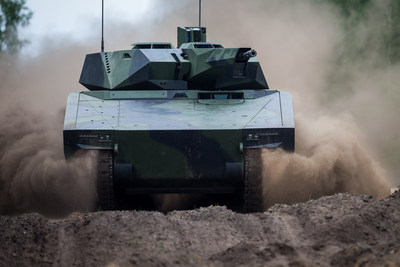 The Raytheon and Rheinmetall team will offer an American-made Lynx vehicle to answer the Army's call for a Next-Generation Combat Vehicle. (Photo: Rheinmetall Defence) (PRNewsfoto/Raytheon Company)