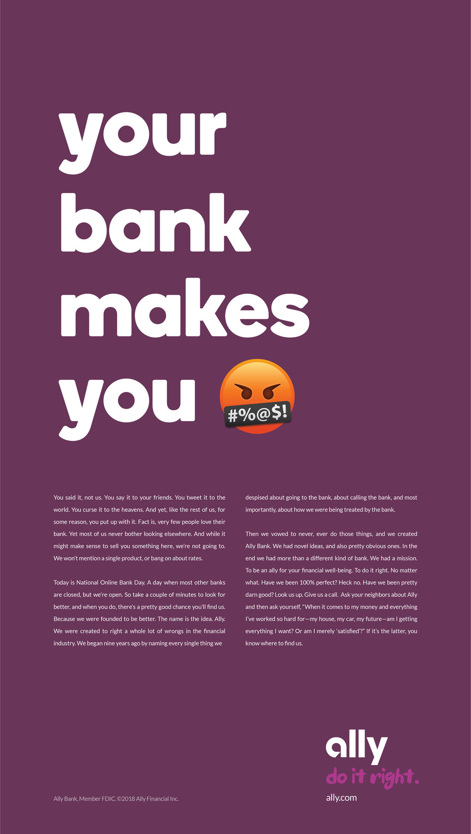 """National Online Bank Day"" Ad"