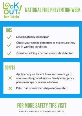 The LookOut For Kids® program offers helpful dos and don'ts to protect your home and family from fires.