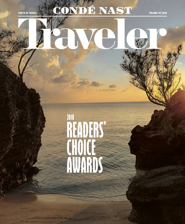 Condé Nast Traveler November issue cover. Captured on a Google Pixel 3.