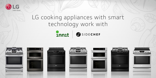LG Electronics USA has integrated leading smart kitchen platform services Innit® and SideChef with select 2018 LG smart ovens and ranges,* ushering in the future of cooking at home today.