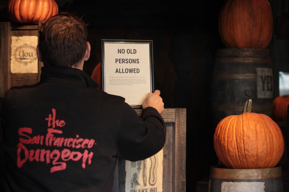 The San Francisco Dungeon, Now Banning Elderly Guests This Halloween Season