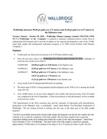 PDF: Wallbridge intersects 98.90 g/t gold over 2.71 metres and 24.30 g/t gold over 6.37 metres in the Habanero zone (CNW Group/Wallbridge Mining Company Limited)