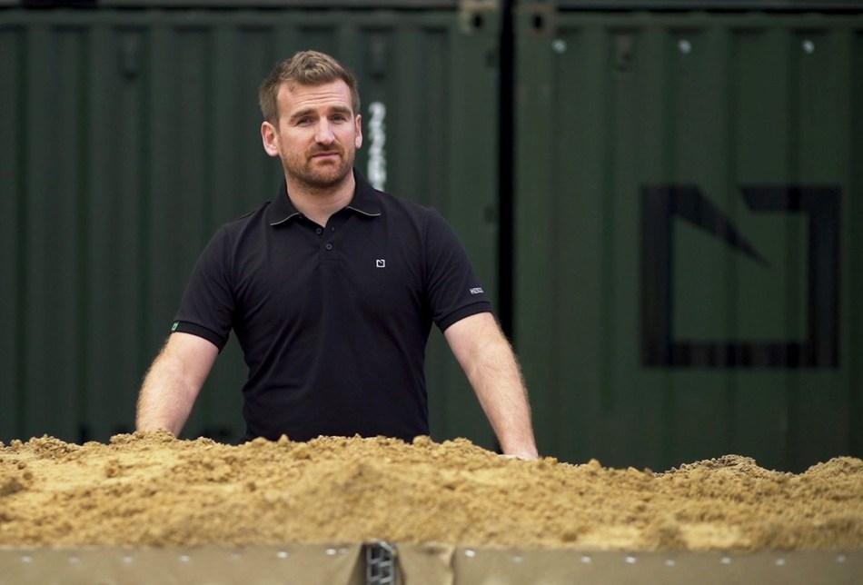 Michael Coates, Declassified, filming at Hesco Headquarters, Leeds (PRNewsfoto/HESCO Group)