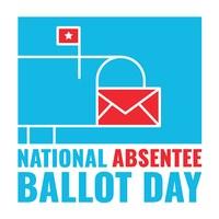 National Absentee Ballot Day Logo