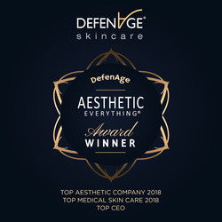 DefenAge® Skincare Sweeps 2018 Aesthetic Everything® Awards with Seven Category Wins, Including Top Aesthetic Company and Top Medical Skin Care Line!