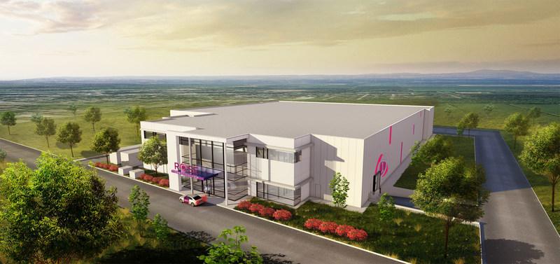 Une première image du bâtiment en construction de ROSE ScienceVie, à Huntingdon. (Groupe CNW/ROSE ScienceVie)