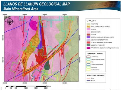 Figure 2 – Geological Map Showing Copper-Gold Mineralized Veining (CNW Group/Aethon Minerals)