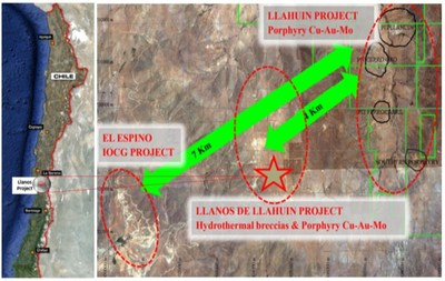 Figure 3 – Locality of the Llanos Project (CNW Group/Aethon Minerals)