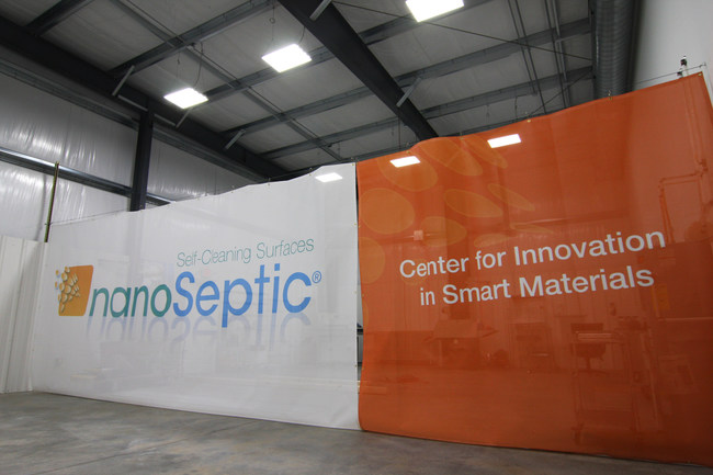 The Center for Innovation in Smart Materials has office space, research areas and manufacturing space