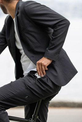Kit and Ace creates technical apparel for the modern commuter. Functionality is the common thread through their collections, allowing people to move comfortably on their commute – from home, to the office and everywhere in between. Shown here: Men's Navigator Stretch Trouser. (CNW Group/Kit and Ace)