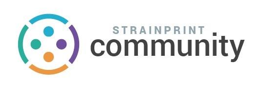 Logo: Strainprint Community (CNW Group/Strainprint Technologies Ltd.)