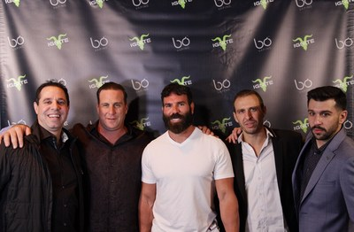 Dan Bilzerian, Darren Schwartz, Chris Fiumara, Manuel Gonzales and Zach Bader at the Bo Vaping Ignite launch party.