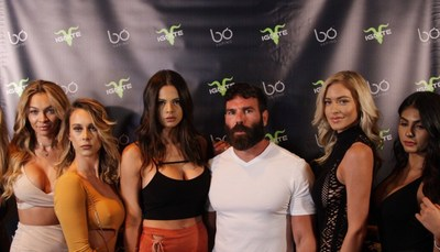 Dan Bilzerian and friends at the Bo Vaping Ignite launch party.