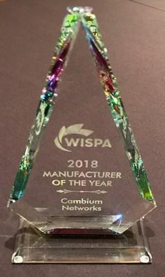 WISPA會員推選Cambium Networks獲行業大獎