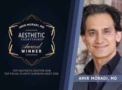 """Dr. Amir Moradi Receives Double Wins in Aesthetic Everything® 2018 Awards, Nabs """"Top Aesthetic Doctor"""" and """"Top Facial Plastic Surgeon West"""""""