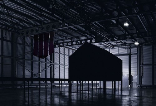 Black Ops House, the darkest room ever made. The structure was built by the creators of Vantablack, the super-black coating that holds the world record as the darkest substance made by man, to make a unique gaming space in which to play Call of Duty®: Black Ops 4.  This unique space in which practically all natural light is absorbed, creates an optical effect of playing the game within an endless Blackout. (PRNewsfoto/Activision)