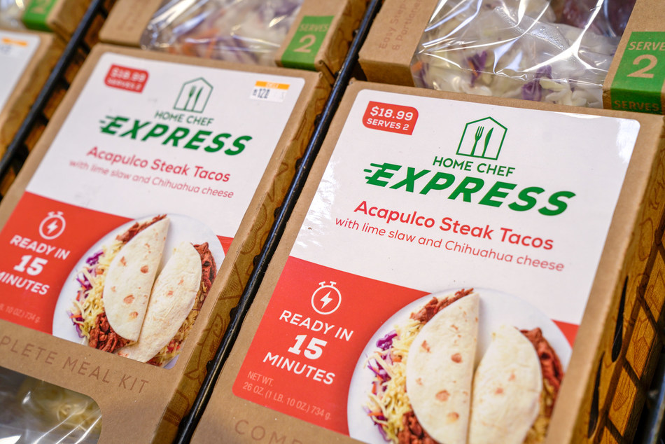 The Kroger Co. debuts Home Chef meal kits in retail locations.