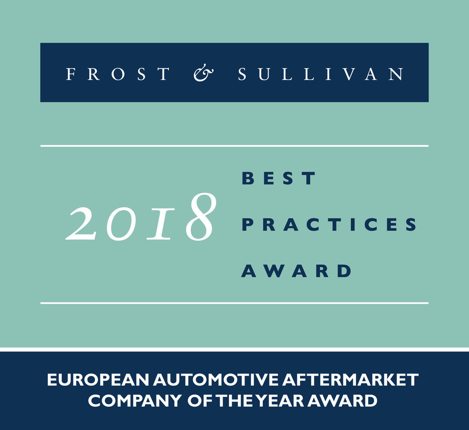 2018 European Automotive Aftermarket Company of the Year Award (PRNewsfoto/Frost & Sullivan)