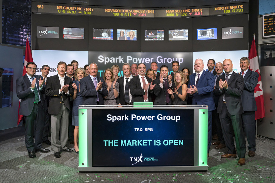Spark Power Group Inc. Opens the Market (CNW Group/TMX Group Limited)