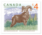 Rocky Mountain bighorn sheep stamp (CNW Group/Canada Post)