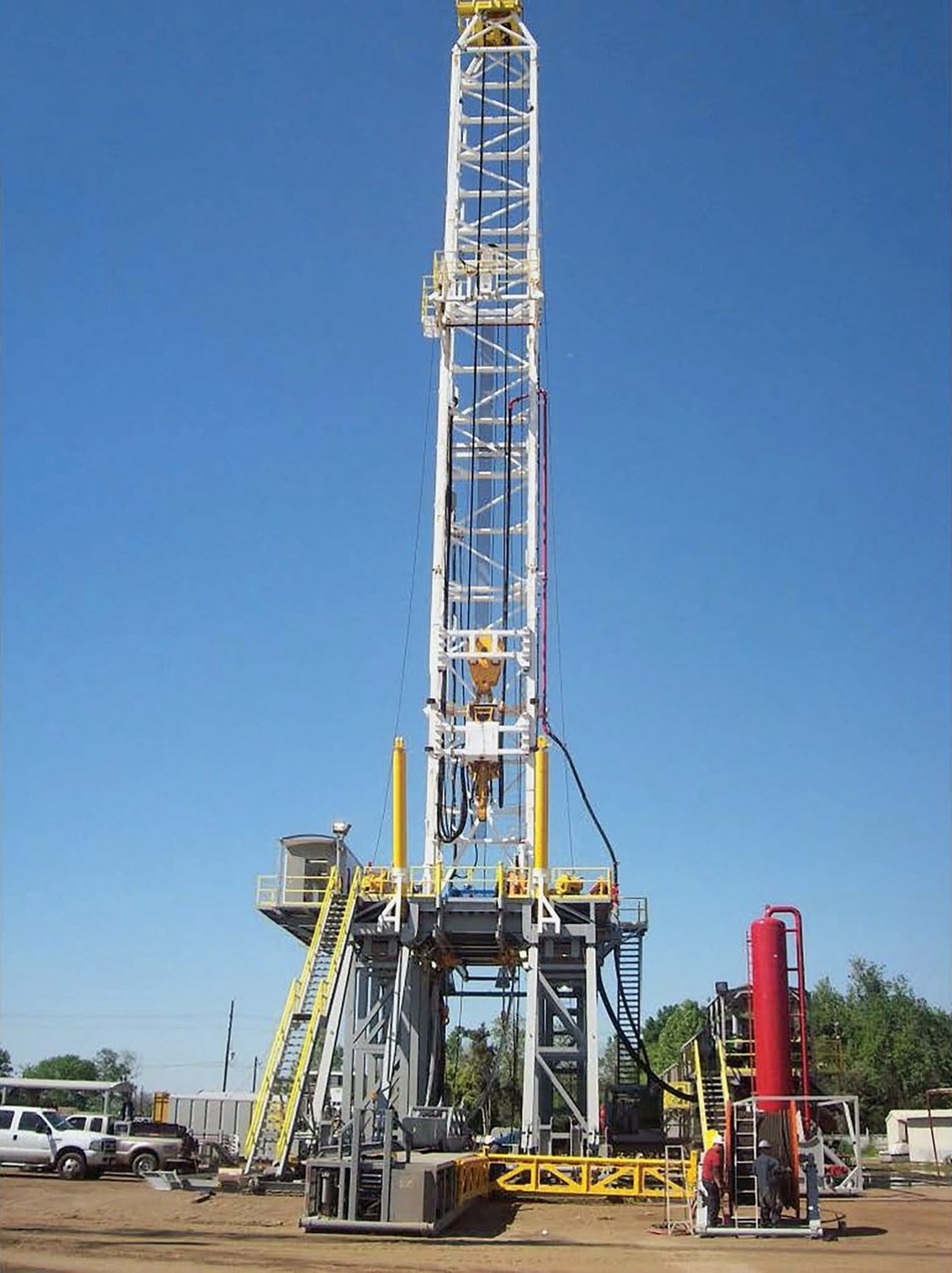 This Loadcraft 2000HP SCR drilling rig sold for US$5.5 million at Kruse Energy Auctioneers' recent event in Odessa, TX, making it the most expensive drilling rig the company has ever sold. (CNW Group/Ritchie Bros. Auctioneers)