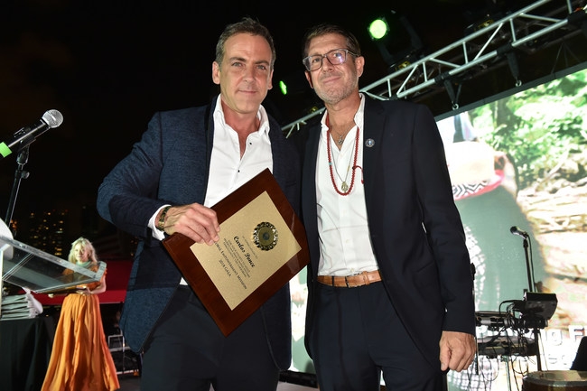 Carlos Ponce with Michael Capponi at the 2018 Global Empowerment Mission Gala Awards Ceremony.
