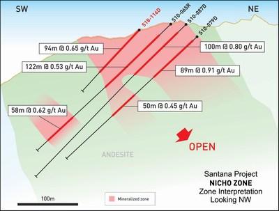 Figure 1 – Drill section (CNW Group/Minera Alamos Inc.)